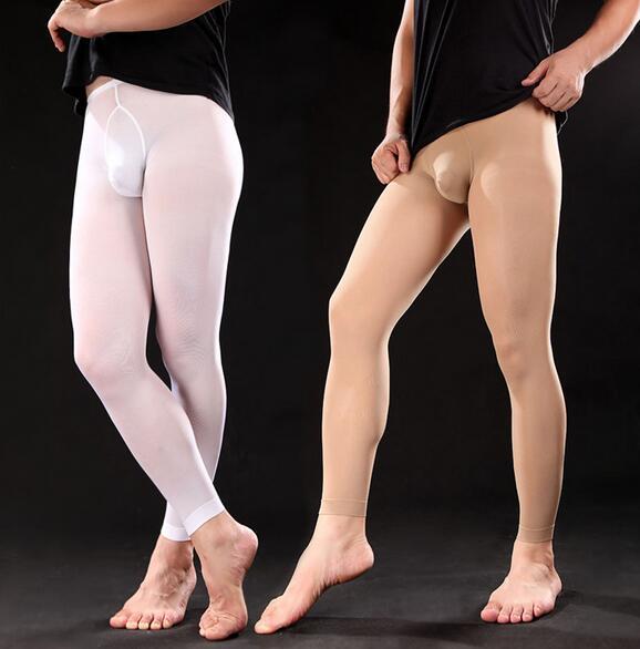 2020 Men Leggings Male Tight Stocking Mens Men's Ninth Pants Sexy Men Stockings Velvet 120D Socks