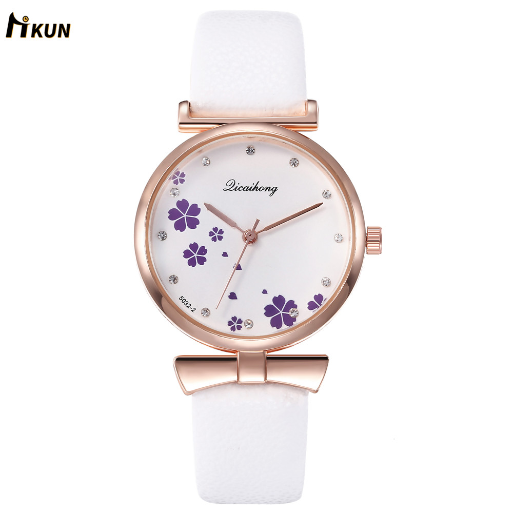 Love Scale Simple Women Quartz Watch With Vintage Leather Band 2019 Lovely Design Luxury Women's Fashion Clock Female Watches