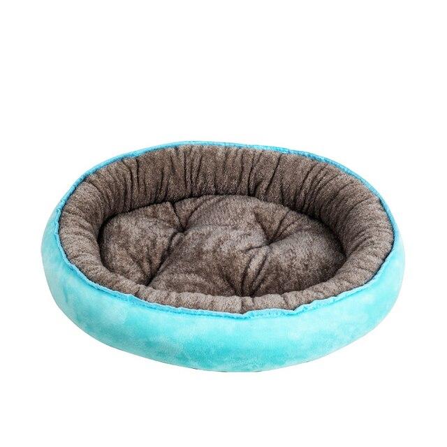 Pluche Comfort Donut hondenbed kleur blauw 1