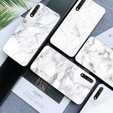 Tempered Glass Case For Huawei 9 10 Lite 8X 8X MAX White Marble Phone Cases For Nova 3 P-smart-Z P30 P20 Lite MATE 20 LITE Funda цены