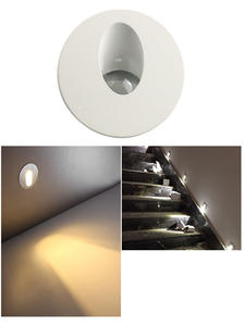 Wall-Lamp Stair-Light Square Aluminum Recessed Round Pathway 1W AC85-265V 3W LED