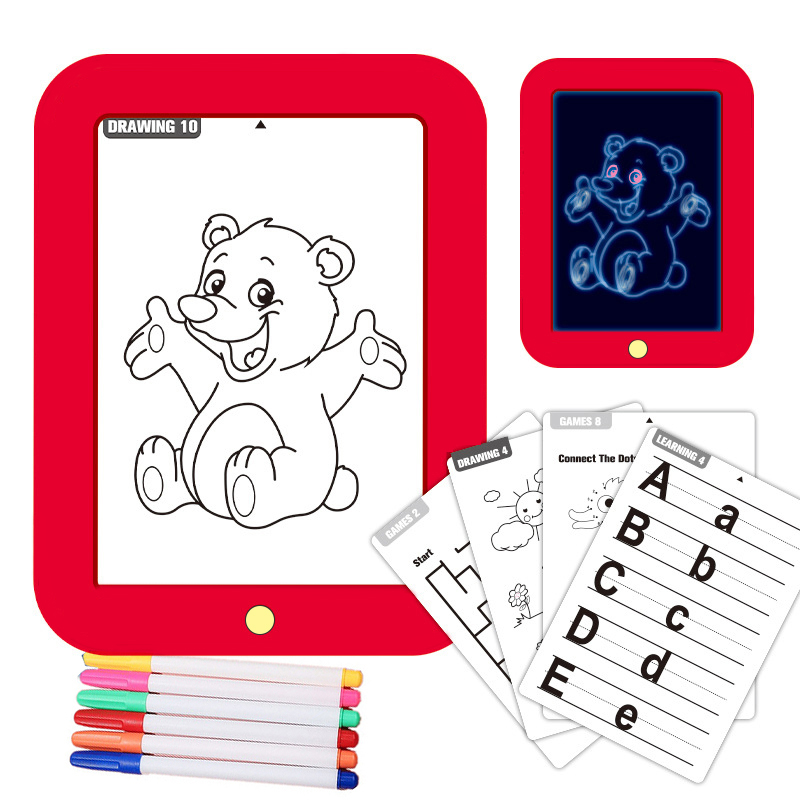 Children's Drawing Board Kid's Magic 3D Pad Hand-painted Plate Colorful Luminous Electronic Writing Boards Graffiti Painting