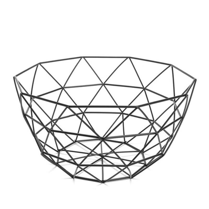 Nordic Style Fruit Basket Wire Decorated Metal Storage Basket Black Display Bowl Fruit Rack Vegetable Table Dining Decoration|Bags & Baskets| |  - title=