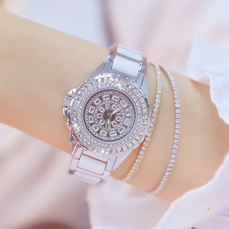<font><b>BS</b></font> 2019 Women's <font><b>Watches</b></font> Full Diamond <font><b>Watch</b></font> Women Luxury Ladies <font><b>Watch</b></font> Women Party Wrist Clock Romantic Rhinestone Designer saati image