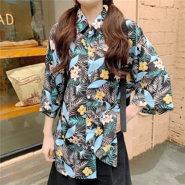 2020 HOT Women Tops and Blouses Fashion Women Shirts Casual Women Blouses half Sleeve Floral print Loose Female Tops Shirts
