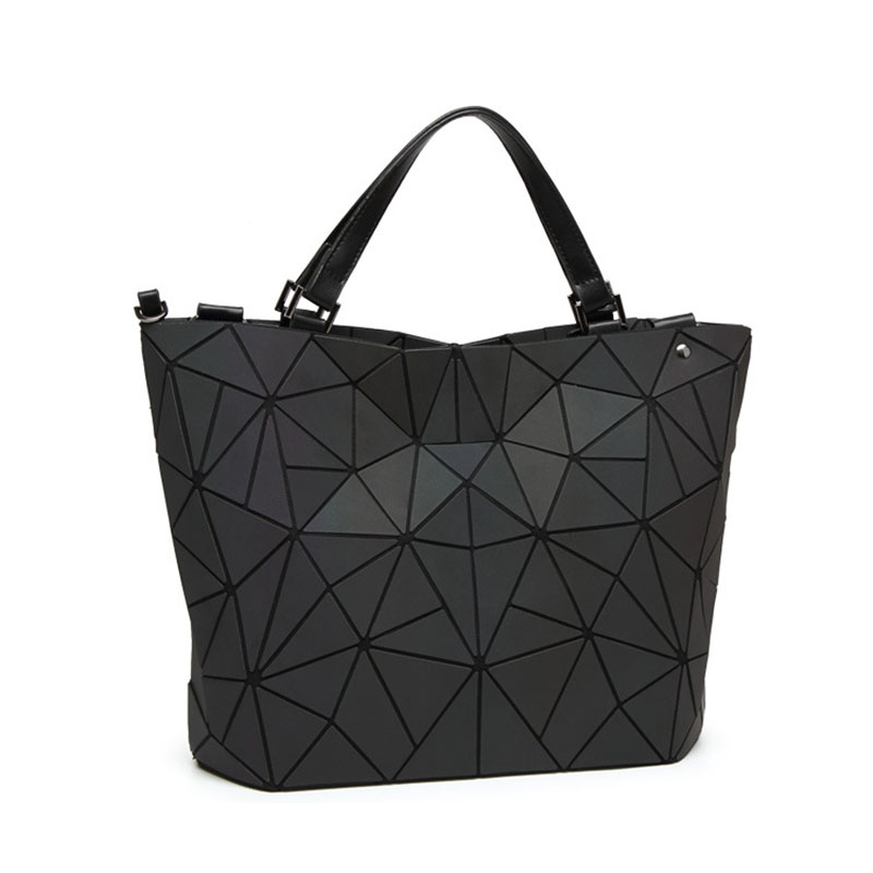 Image 2 - Women Handbags Luxury Designer Punk style Fashion Shoulder Bag Triangle Luminous Tote Folding Crossbody Bag Matte Texture PurseShoulder Bags   -