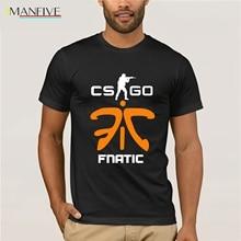 funny men t shirt DOTA 2 CS CSGO Counter Strike fnatic Print Men T-Shirt Game Team cotton O Neck camisetas top tees