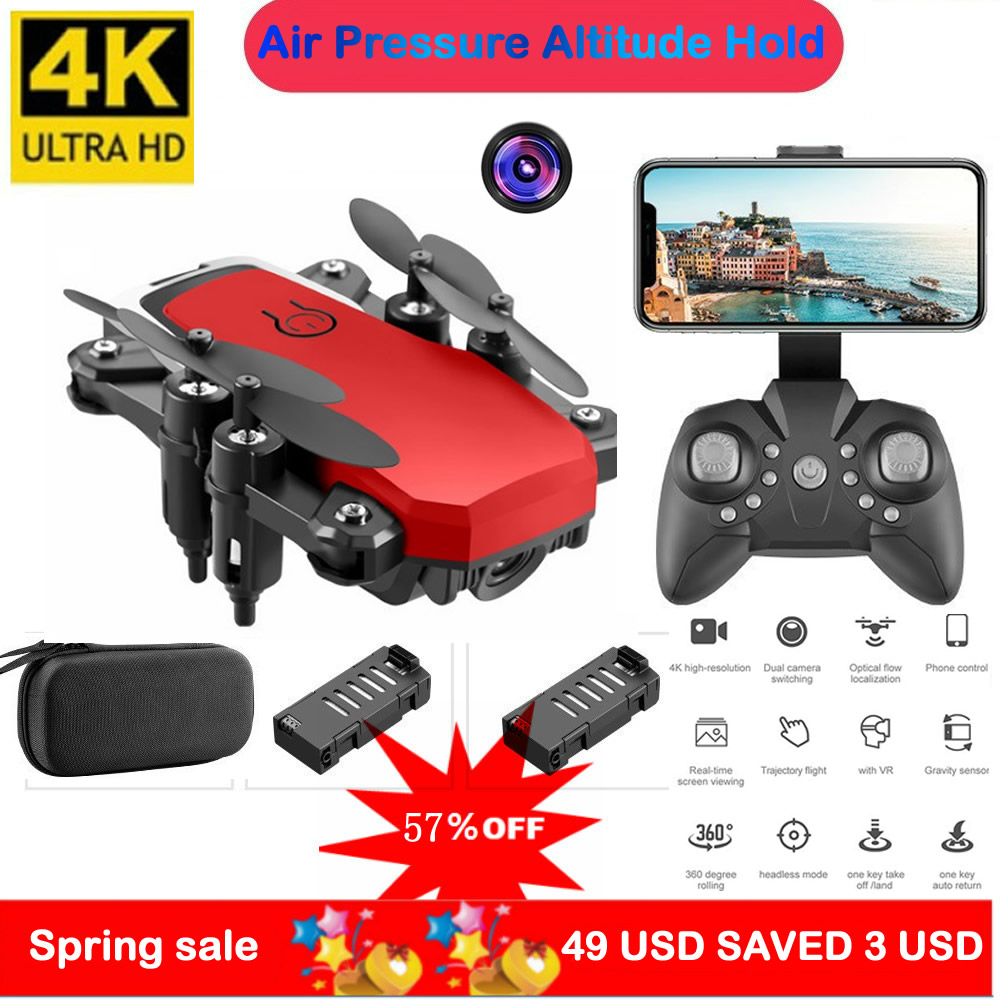 Oringal LF606 Mini RC Drone 4K HD With Camera Remote Control Helicopter One-Key Return WIFI Foldable Quadcopter Toy ASSOT