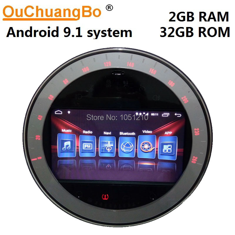Ouchuangbo Android 10 gps enregistreur radio pour 7 pouces mini countryman R55 R56 R57 clubman S one 2007-2010 argent avec 2GB + 32GB