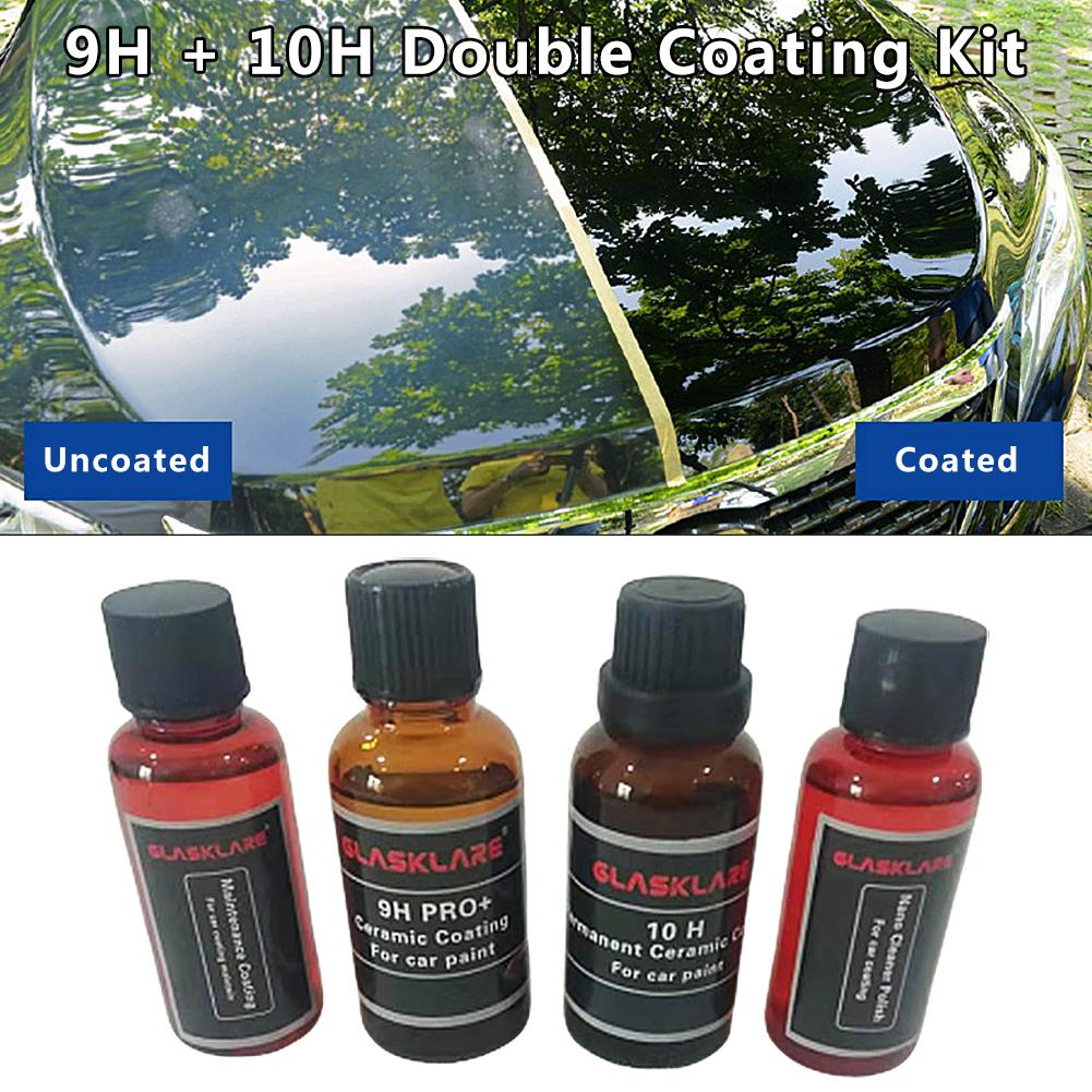 4PCS 9H 10H Car Liquid Ceramic Coat Super Hydrophobic Glass Coating Set Car Maintenance Waterproof Nano Ceramics Car Paint Care