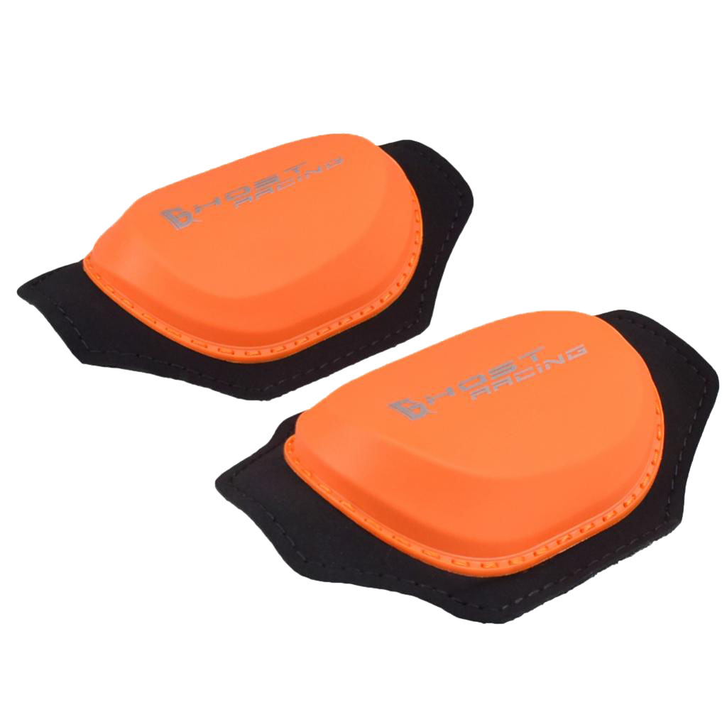 2x Orange Waterproof Knee Protector Support Strap Wrap Knee Shin Cover Pads for Motorcross Outside Riding