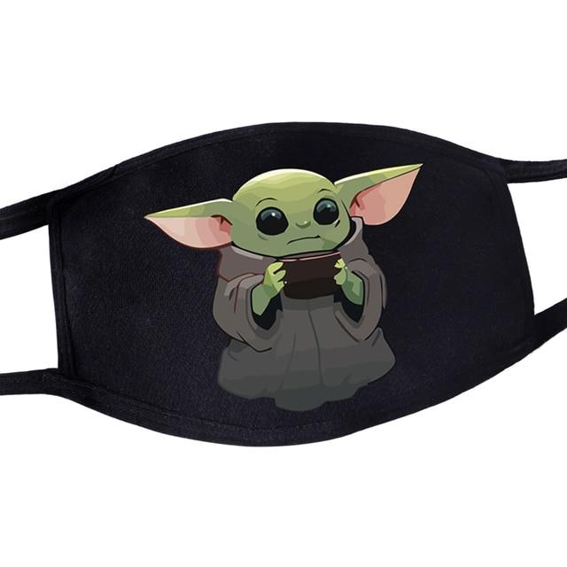 2020 Hot Mandalorian Anti Dust Masker Adult Womens Mens Kids Baby Yoda Face Mask Masque Star Wars Kawaii Reusable Mouth Masks 1