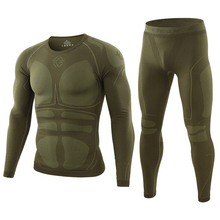 Thermal-Underwear-Set Military-Clothes Army Tactical Pants Winter Warm Top Outdoor Slim-Fit