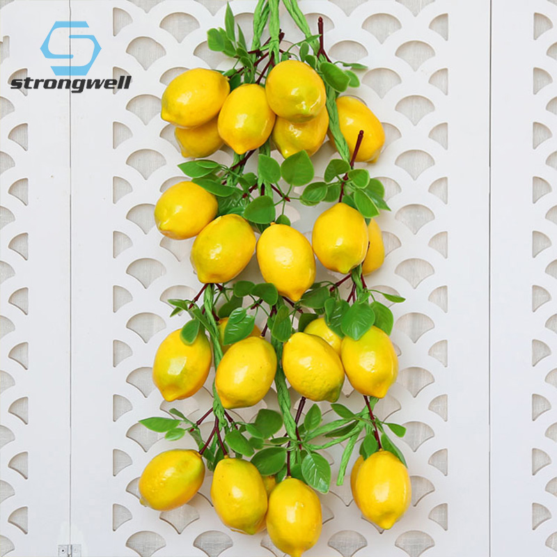 Strongwell Simulation Fruit  Vegetable Skewers Home Wall Hanging Decorative Fake Vegetables Restaurant Diy Wall Decorations