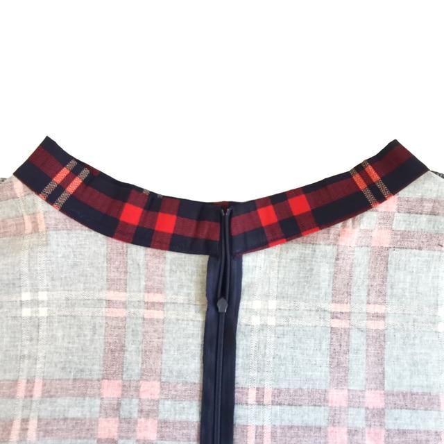 Checkered Cotton Skirts Womens Midi High Waist Pin up Hepburn Retro Vintage Swing Skirts 50s 60s Rockabilly Plaid Jurken Skater 4