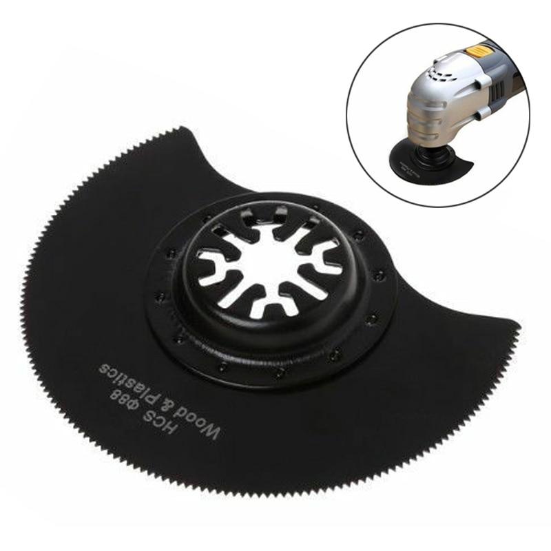 1 PCS Multi-Cutter 88mm Semi-Circular Cutting Saw Blades HCS Oscillating Multi Tool Kit Accessories Black