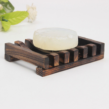 1pcs Wooden Natural Bamboo Soap Dish Tray Holder Storage Rack Plate Box Container For Bath Shower Bathroom