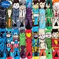 Мужские Мультяшные аниме забавные носки счастливые длинные носки мужские Железный человек Халк Капитан Америка крутые короткие носки улич...