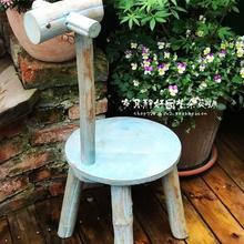 Vintage flor soporte jardín artículos domésticos registro Fawn flor soporte al aire libre niños silla