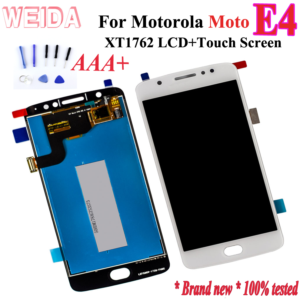 Weida for Motorola Moto E4 <font><b>XT1762</b></font> <font><b>LCD</b></font> Display+Touch Screen Digitizer Assembly Replacement +Tools image