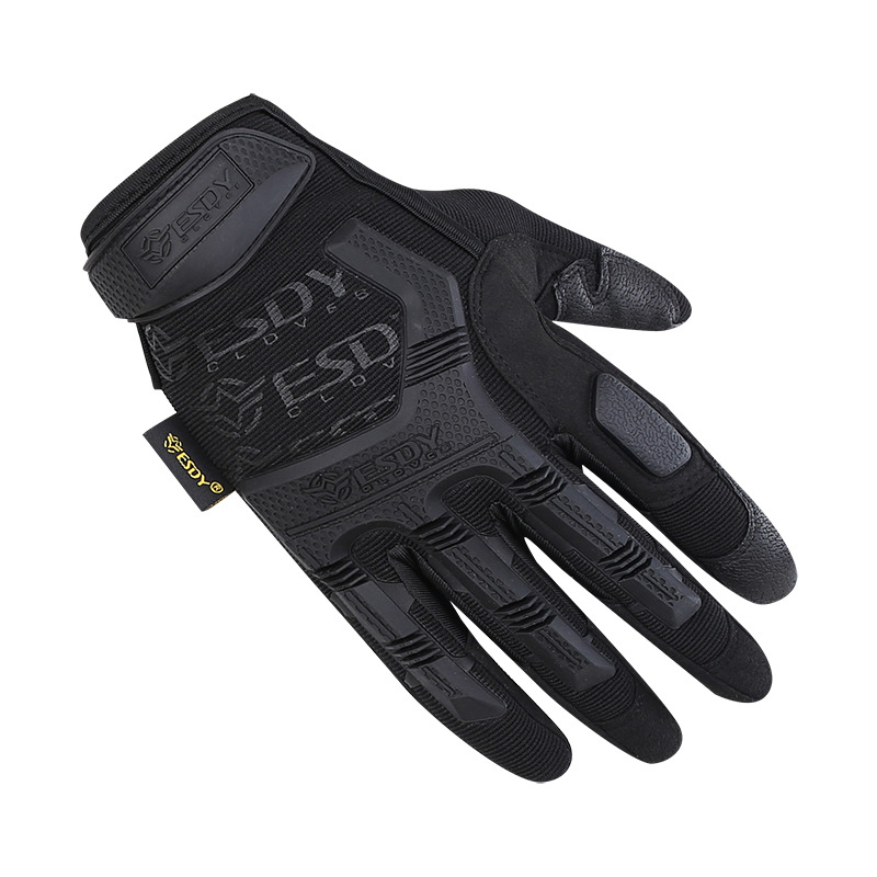 Outdoor Tactical Full Finger Gloves Armor Protection Hand Wear Shell Leather Gloves Outdoor Cycling Military Combat Men Gloves