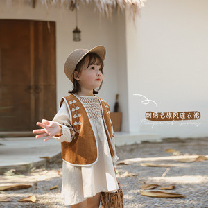 Image 2 - Childrens dress Girls National Style Embroidered Dress 2020 New Spring Fashion Baby  Dress Baby Girl Clothes