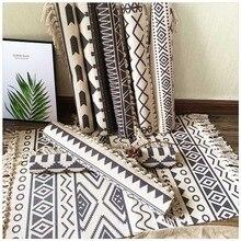 Alfombras de algodón borla suave para el hogar para sala de estar dormitorio decorar el hogar felpudo para el suelo alfombras nórdicas de algodón LinenArea
