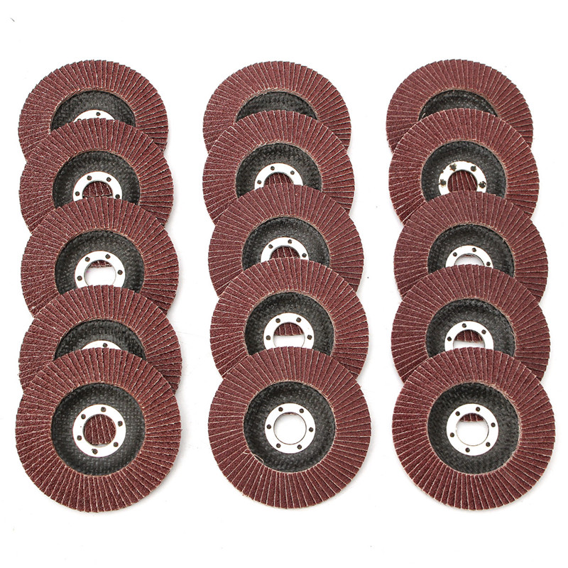 15Pcs/Set Professional Flap Discs 115mm 4.5 Inch Sanding Wheels Discs 40/60/80 Grit Grinding Wheels Blades For Angle Grinder