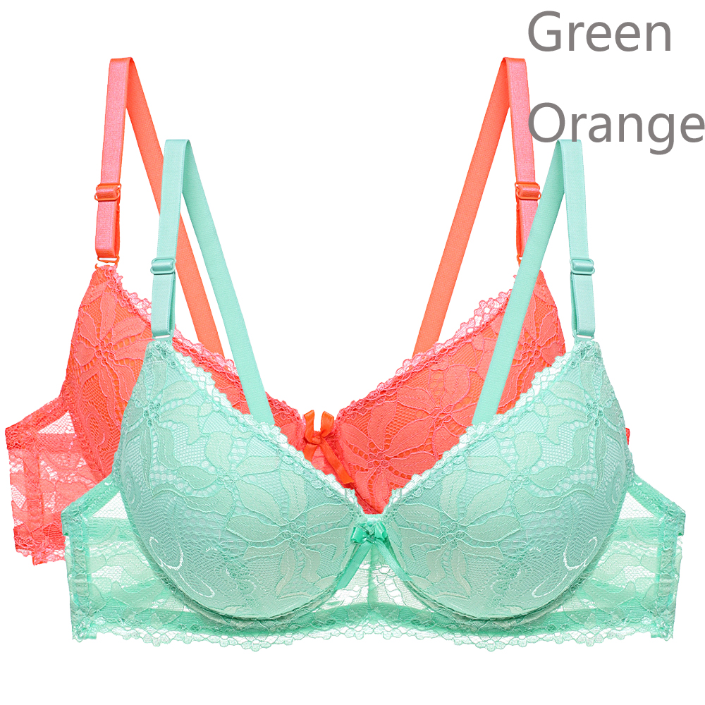 2PCS/Lot Sexy Lace Push Up Bra Brassiere Adjustment Plunge Lingerie Bras For Women Underwire Underwear BH Top