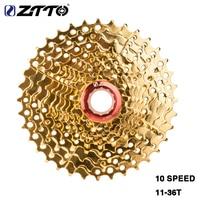 MTB 10 Speed 10s Cassette 11 36 T Gold Golden Freewheel Flywheel for parts M610 XT M785 SLX M670 for XTR M975 K7 NX GX Hot