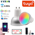 LED Smart GU10 Spotlights Tuya Smart Home Lamp WiFi 5W LED Bulbs Remote Voice Control RGB+CW+WW Dimmable Light