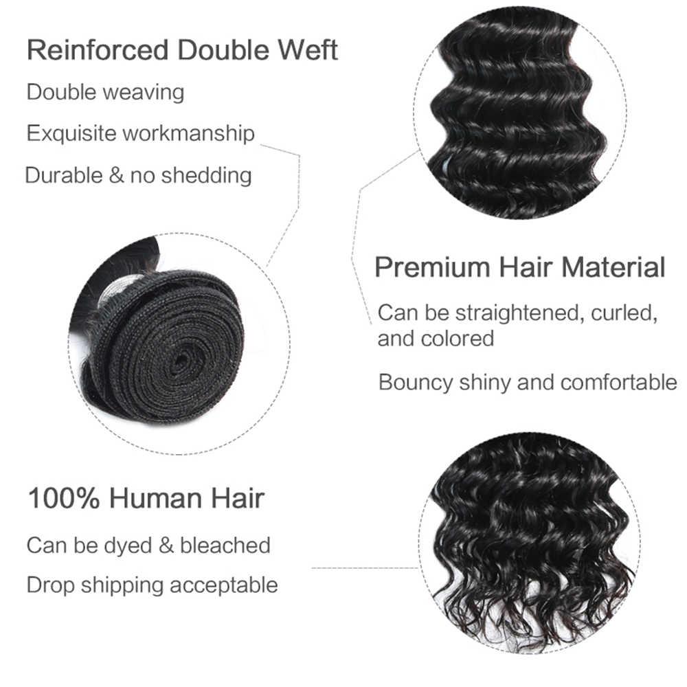 Bigsophy Brazillian Haar Diepe Golf Hair Extensions Natuurlijke 1 Pcs 3 Pcs 4 Pcs Bundels 26 28 Inch 100% Human remy Haar Weave Bundels