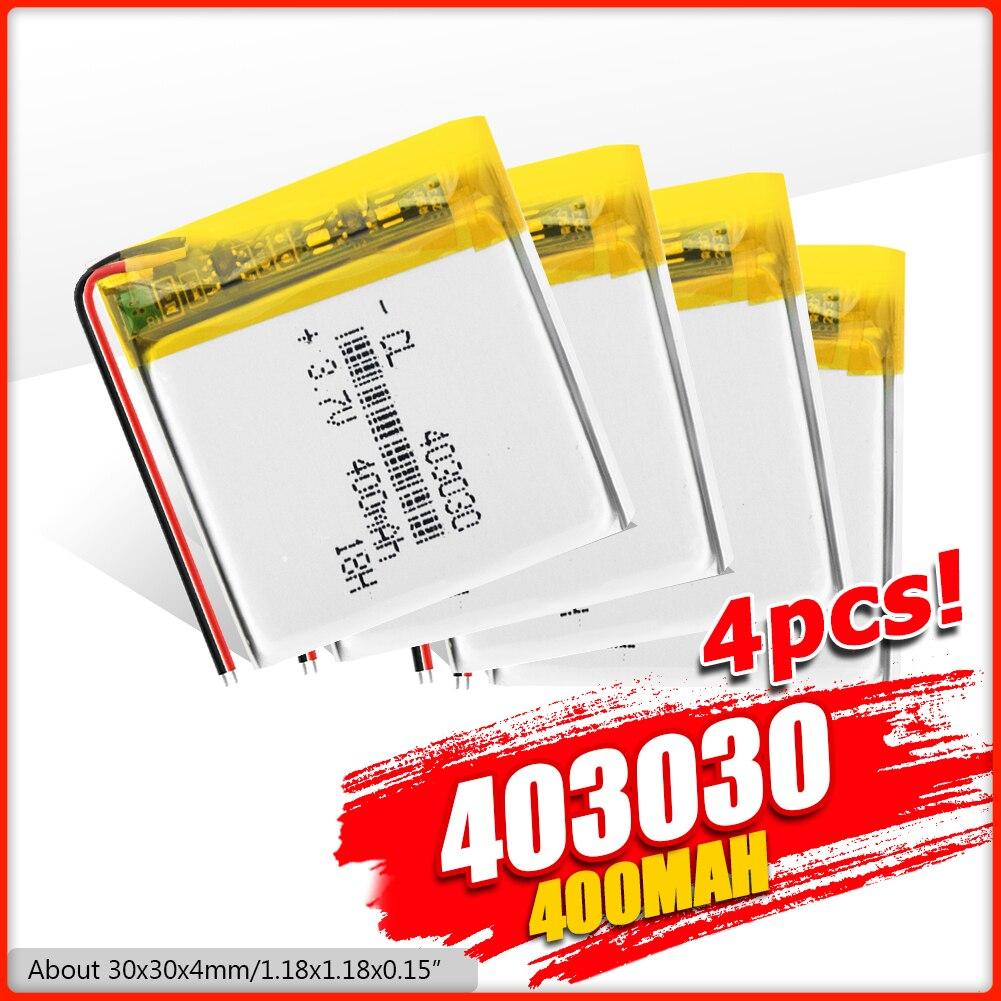 3.7V 400mAh 403030 batterie Rechargeable Lithium polymère li-po Li ion batterie Lipo cellules pour GPS MP3 MP4 montre téléphone sans fil