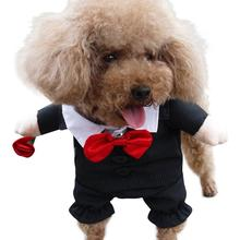 NACOCO Dog Suit Pet Gents Costume Formal Dress Clothes with Bow Tie Halloween Gentleman Costumes for Puppy and Cat