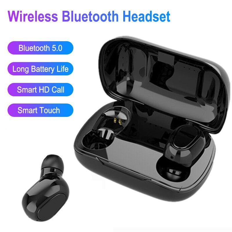 TWS Wireless Bluetooth 5.0 Headphone Stereo Noise Canceling Earphone Sweatproof Headset With Charging Box For Apple Huawei PK F9