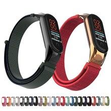 Laforuta Mi Band 4 Nylon Bracelet For Xiaomi 3 Strap Wristband Women Men Fitness Sport Replacement Loop Smart Accessories