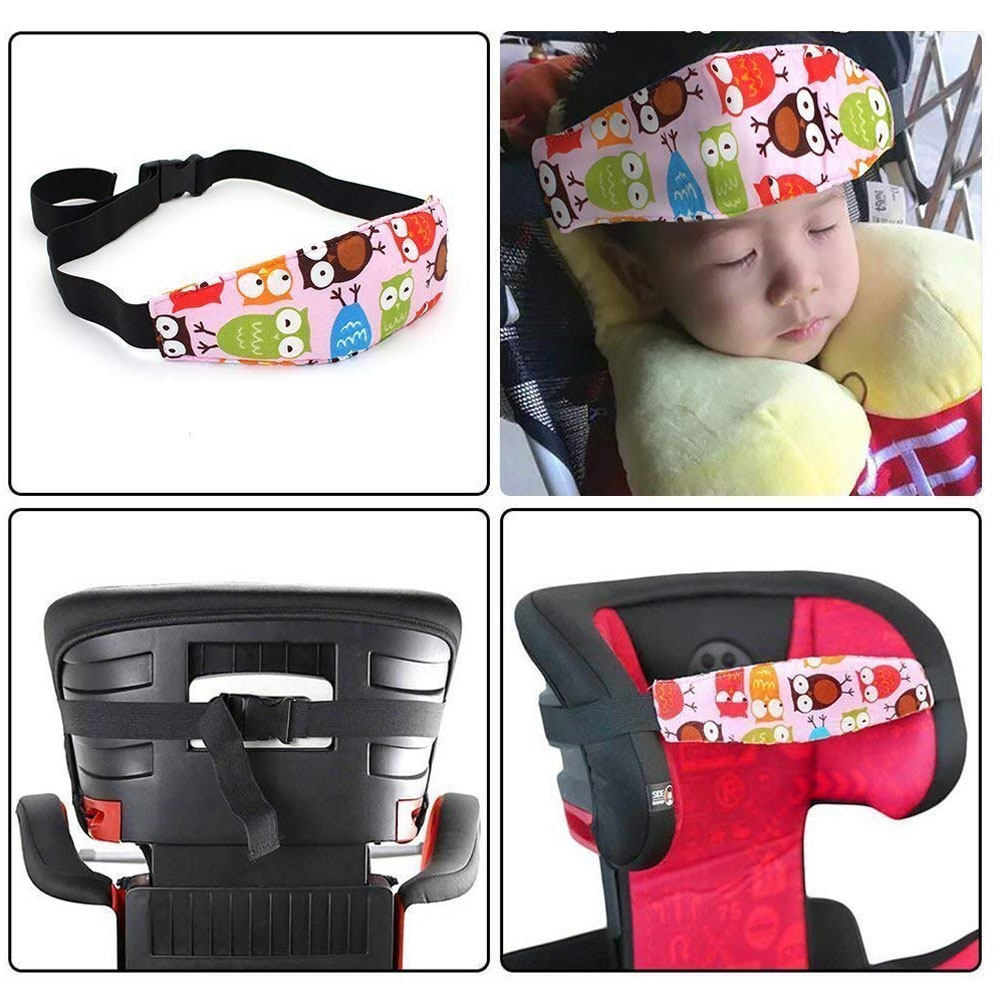 Baby Head Support For Car Seat Blue Stars Print Neck Relief Carseat Head Strap Safety Stroller Sleeping Head Holder Belt