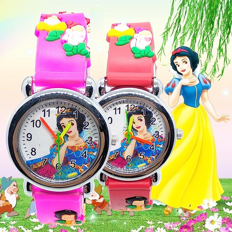 2020 Top Luxury Girls Watch Children Students Clock Women Watches Kids Baby Birthday Gift Cartoon Princess Child Quartz Watch