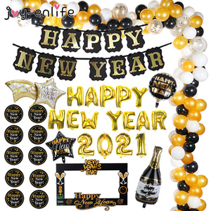 Christmas Decorations for Home Happy New Year Eve Party 2021 Decoration Black Banner Photo Booth Frame Props Natal Noel Nordica