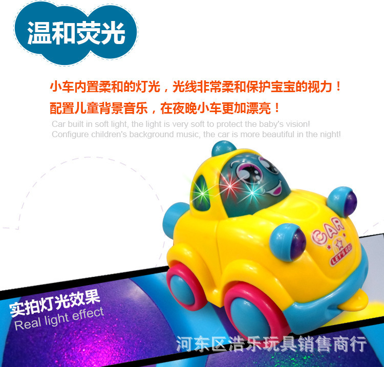 8 Pack Expert 9904 Classic Car Flash Electric Music Car Toy Universal Wheel Car Toy