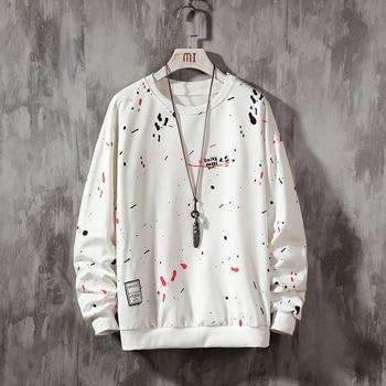 hand-Painted  Sweatshirts Men/Women Hoodies  art painted  sweatshirt Winter Loose   Tops 1
