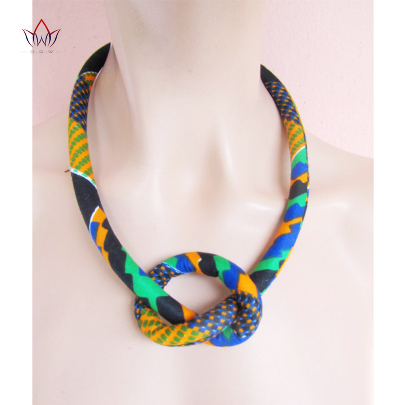 African Print Necklace Ankara Print Necklace African Ethnic Handmade jewellery African cotton fabric jewellery for Women WYB204 jewellery