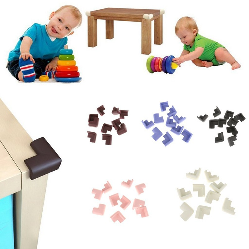 10 Pcs Table Desk Edges Angles Foam Protective Pad For Baby Safety