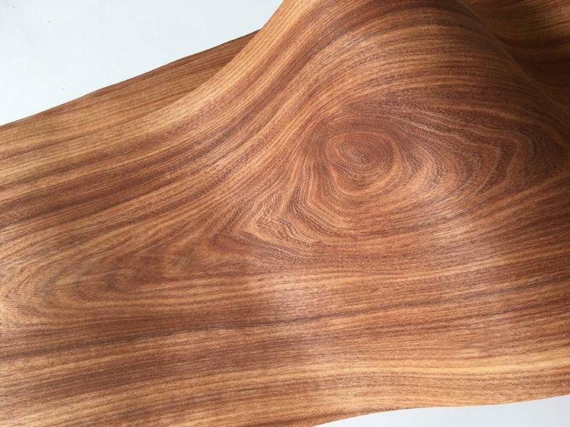 2x Natural Red Rosewood Veneer Sliced Wood Veneer Backing With Tissue Furniture Veneer 20cm X 2.5M 0.2mm Thick C/C
