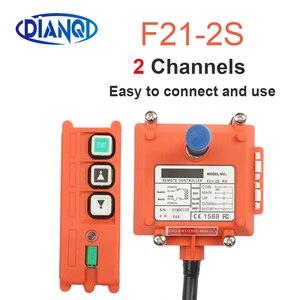 Image 2 - F21 E1B F21 2S AC 220V 110V 380V 36V DC 12V 24V wireless Industrial remote controller switches Hoist Crane Control Lift Crane