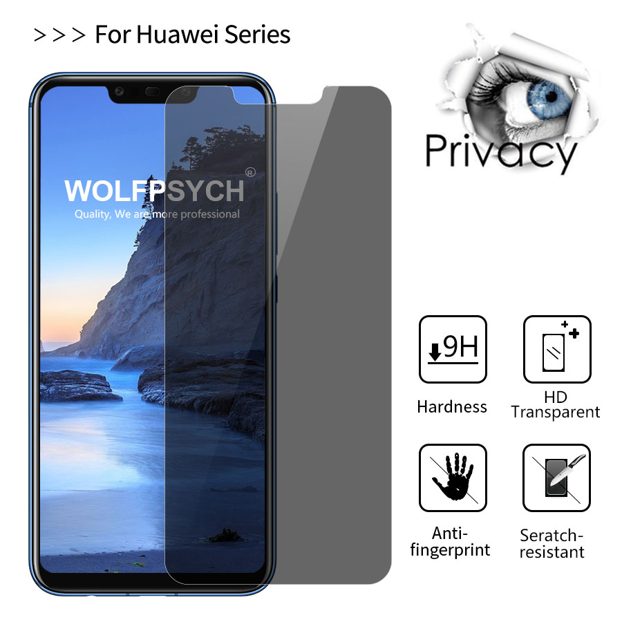 9H Privacy Anti Spy Tempered <font><b>Glass</b></font> Screen Protector For <font><b>Huawei</b></font> Honor <font><b>Mate</b></font> <font><b>20</b></font> Lite 10 <font><b>Pro</b></font> Nova6 Nova7 Y9 P Smart 2019 image