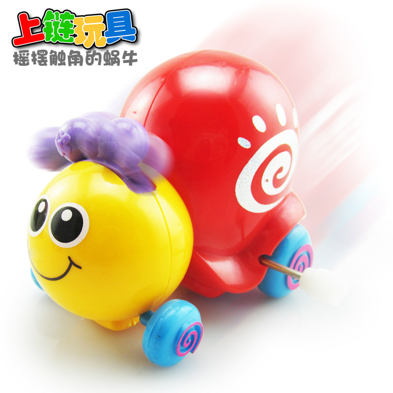 Creative Children Wind-up Toy Cartoon Animal On Chain Small Toy Snail