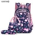 Комплект из 3 предметов  Детские водонепроницаемые школьные сумки для девочек  школьные рюкзаки принцессы  Детские рюкзаки с принтом  школь...