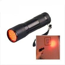 Портативный красный светильник светодиодный светильник-вспышка плюс УФ-тестер тактический для пчеловодства Ночная охота рыбалка Астрономия ночное видение