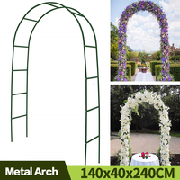 Auaysed-Arco de Metal de 7,9 pulgadas para boda, arco de boda, árbol de jardín, fiesta nupcial, árbol de jardín para plantas trepadoras